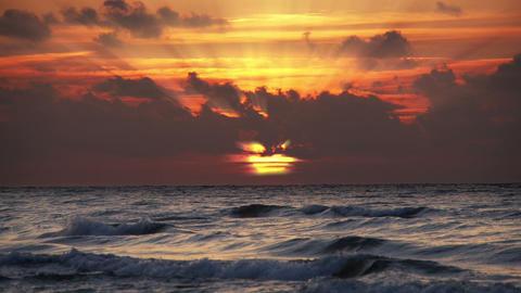 Sun rays during sunset Stock Video Footage