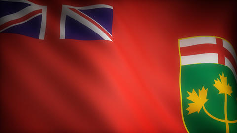 Flag of Ontario Stock Video Footage