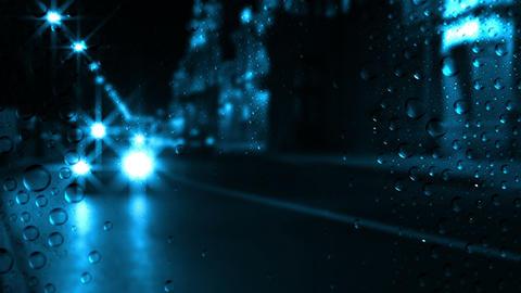 Night traffic and rain Stock Video Footage