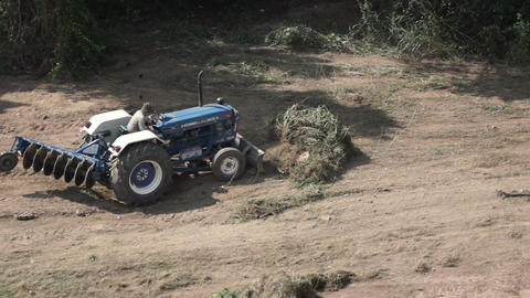 Tractor Clearing Land Stock Video Footage
