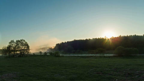Sunrise. Time Lapse Stock Video Footage