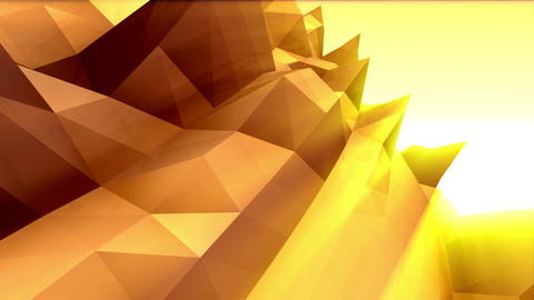 Geometric Mountain 3 Stock Video Footage