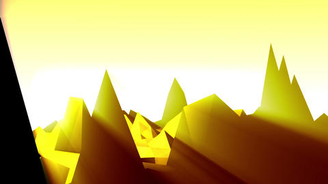 Geometric Mountain 8 stock footage