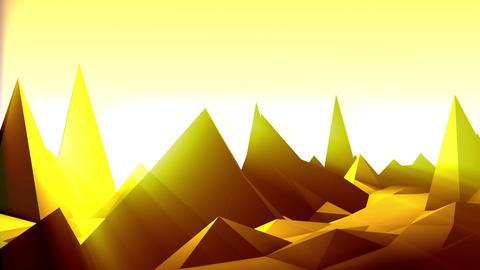 Geometric Mountain 8 Stock Video Footage