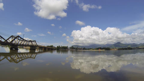 Kampot panoramic view Stock Video Footage