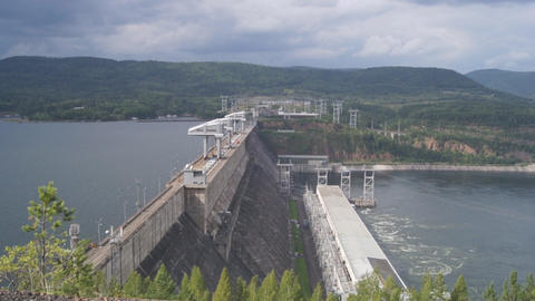 Krasnoyarsk hydroelectric power station dam 10 Footage