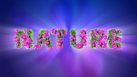 NATURE Text 3D Motion Graphics Animation