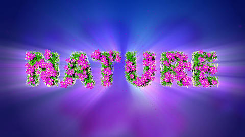 NATURE Text 3D Motion Graphics Stock Video Footage