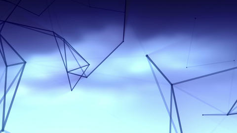 Connected lines in the sky 2 Stock Video Footage