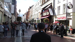 Grafton Street 2 Stock Video Footage