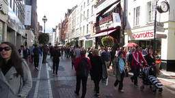 Grafton Street 2 Stock Video Footage