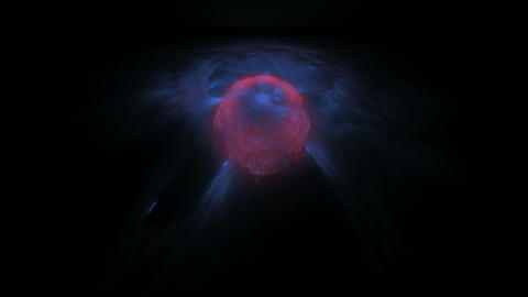 Abstract Blue Red Object on Black Stock Video Footage