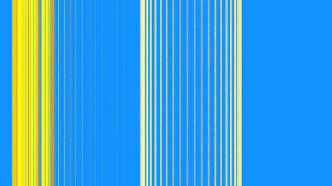 Vertical Yellow Lines on Blue Footage