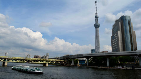Tokyo Skytree Time Lapse Footage