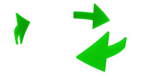 Three rotating green arrows Stock Video Footage