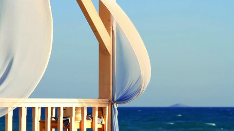 terrace on the beach Footage