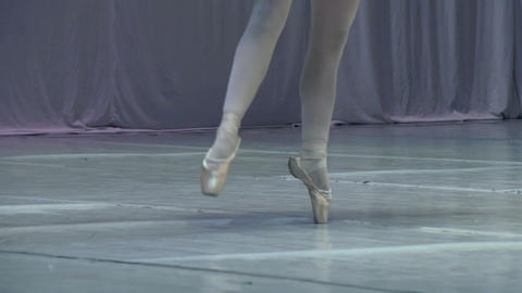 Ballerina on Stage HD Footage