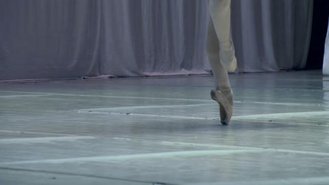 Ballerina on Stage HD Stock Video Footage