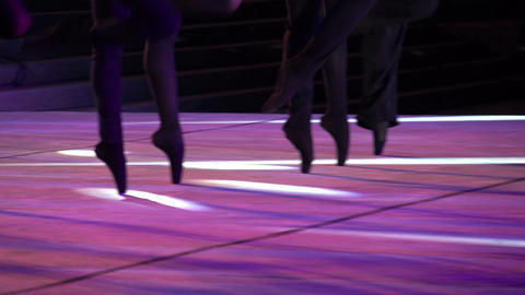 Ballet Step HD Stock Video Footage