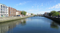 River Liffey 1 Stock Video Footage