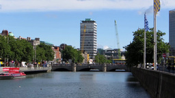 River Liffey 3 Stock Video Footage