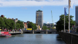 River Liffey 3 stock footage