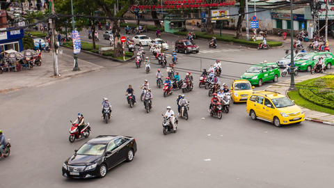 1080 - TRAFFIC IN VIETNAM - HO CHI MINH CITY Footage