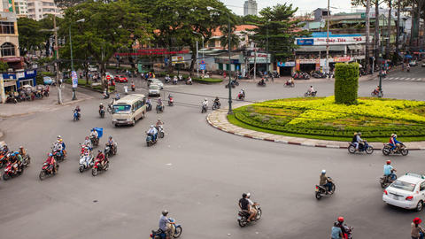 1080 - TRAFFIC IN VIETNAM - HO CHI MINH CITY Stock Video Footage