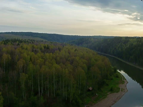 Sunset over river TimeLapse Stock Video Footage