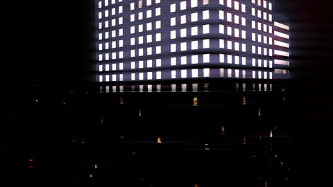 City by Night 02 Stock Video Footage