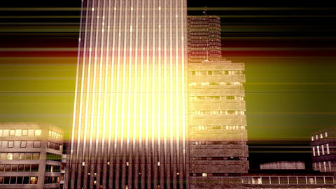 City by Night 04 Stock Video Footage
