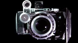 Vintage camera shooting Stock Video Footage