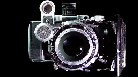 Vintage camera shooting Stock Video Footage