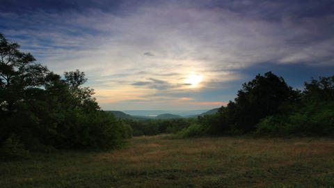Timelapse sunset in the mountains. Cave city Chufu Stock Video Footage