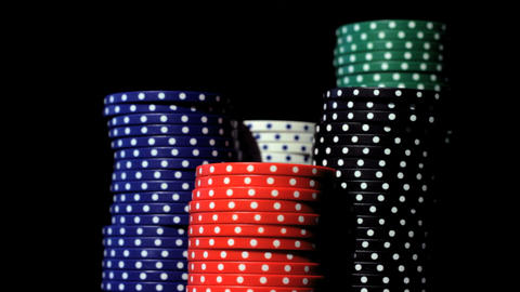 Casino chips stacks Stock Video Footage