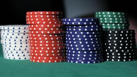Poker. Winner takes the money Stock Video Footage