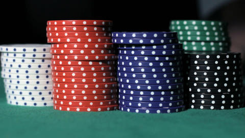 Poker. Winner takes the money Stock Video Footage