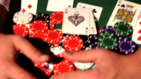 Gambler takes the money Stock Video Footage