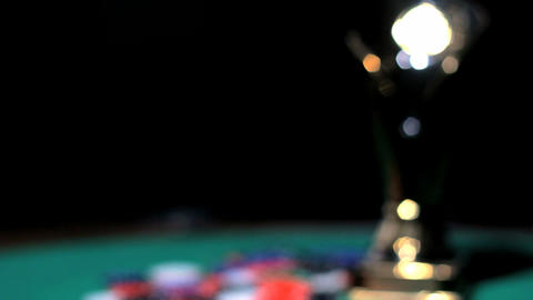 Poker's Cup stock footage