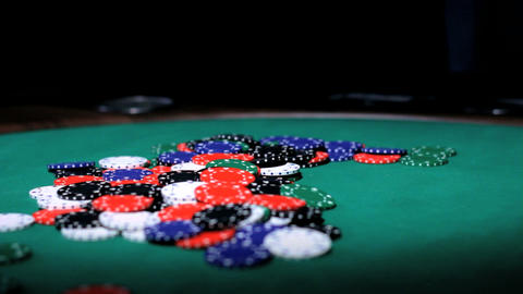 Poker chips Stock Video Footage
