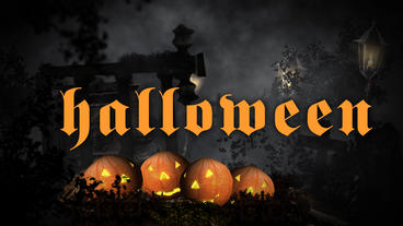 Halloween Logo Reveal stock footage