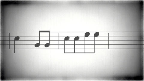 8mm Music Sheet 01 stock footage