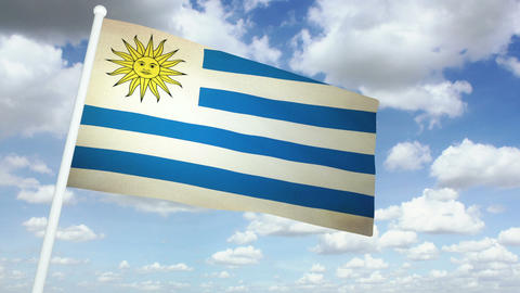Flag Uruguay 02 Animation