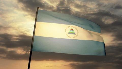 Flag Nicaragua 03 Animation