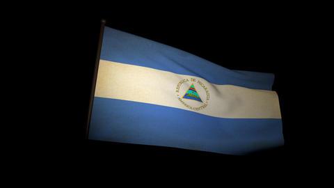 Flag Nicaragua 01 Animation