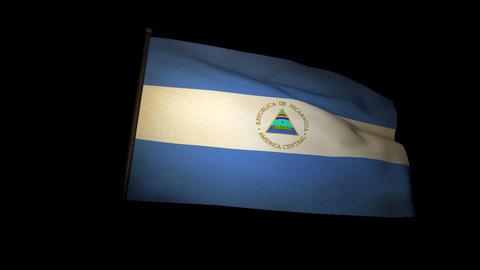 Flag Nicaragua 01 Stock Video Footage