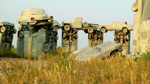 Carhenge Stock Video Footage