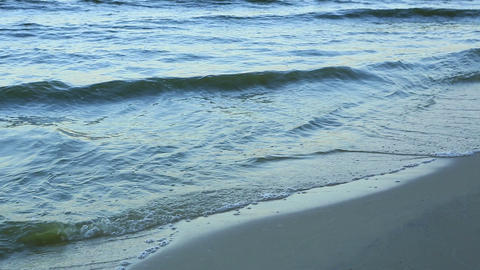 Shore Lake, Waves stock footage