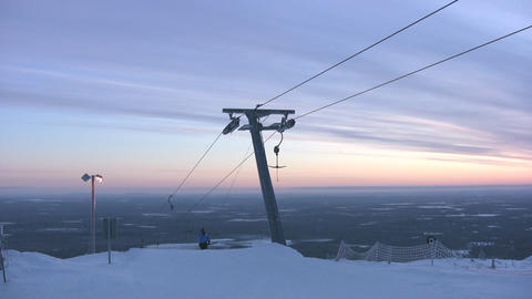 Top of skilift with halyards Stock Video Footage