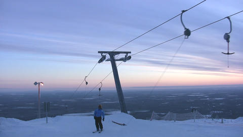 Top of skilift with halyards Footage